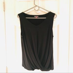 Size M Vince Camino Black top with bottom ruching